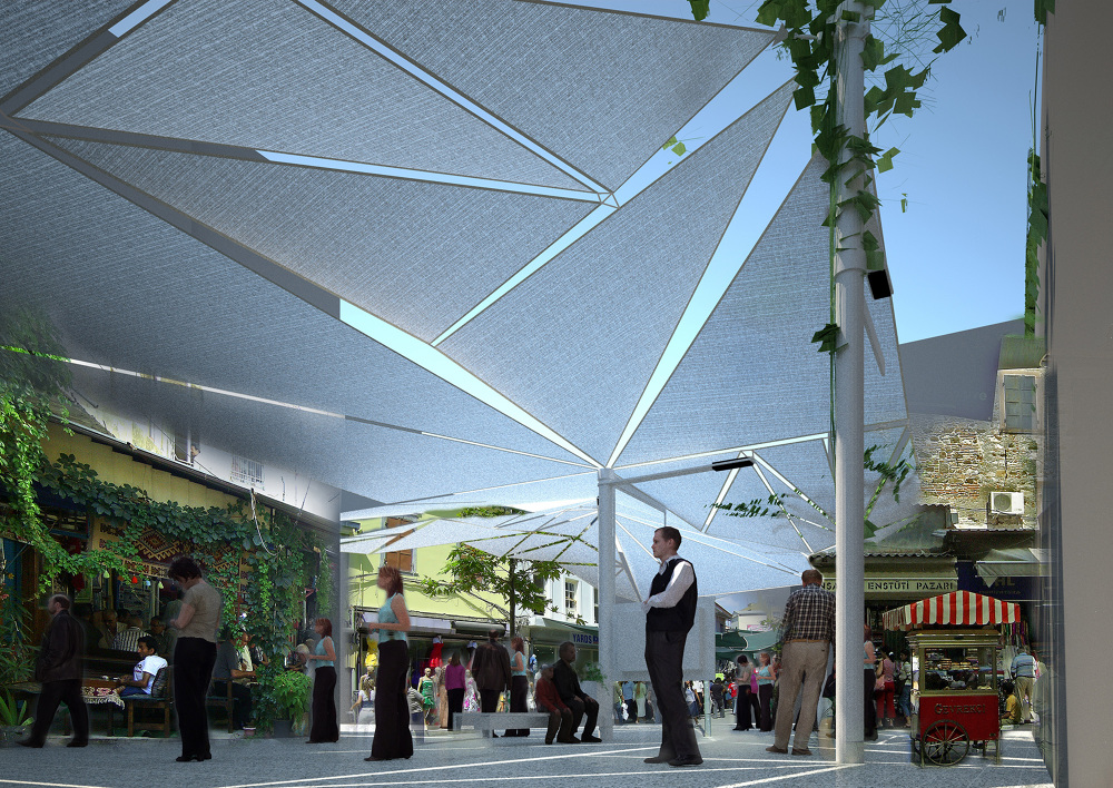 Demand A Unifying Canopy Design Throughout The Renovation Planned Historical Kemeralt Bazaar Texture